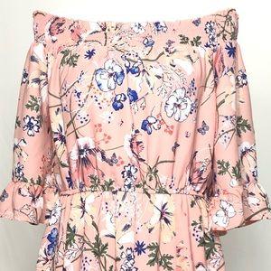 Westport Dresses - Women's Size 8 Pink Floral Print Midi Dress